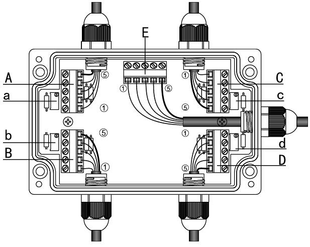 四路求和称重接线盒线路连接.jpg