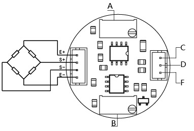 scale load cell wiring diagram load cell interface pinout